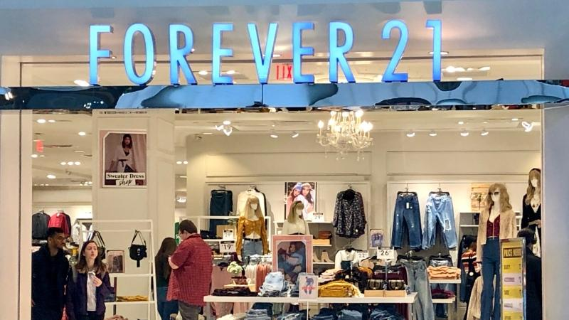 Forever 21 will be closing 44 stores in Canada by the end of the year. (Natalie Johnson/CTV News Toronto)