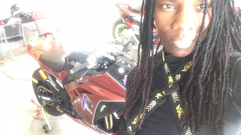 The stunt driver who lost her life has been identified as Joi Harris, a professional motorcycle racer who went by the initials SJ. (Facebook)
