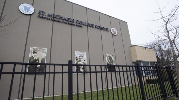 St. Michael's College School is shown in Toronto on Thursday, November 15, 2018. THE CANADIAN PRESS/Frank Gunn