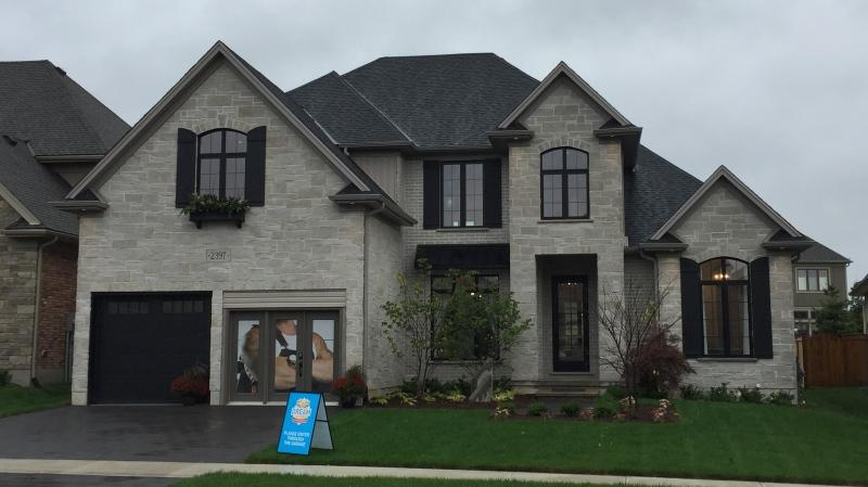 One of the homes that can be won in the Dream Lottery is seen in London, Ont. on Thursday, Oct. 3, 2019. (Bryan Bicknell / CTV London)