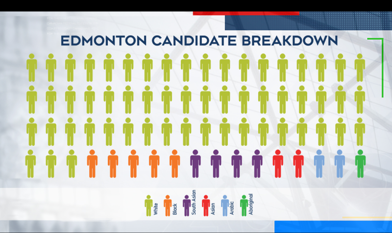 Seventy-one candidates from 10 parties, as well as two independents, will contest 11 ridings across the Edmonton area.