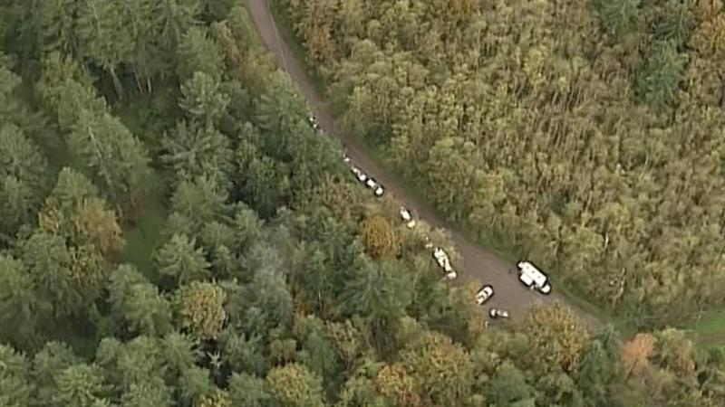 On the first two days, RCMP searched from the air, but the thick tree canopy made it difficult for them to find any clues. (CTV Chopper 9)