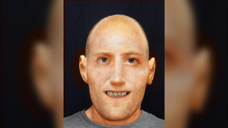 Slave Lake RCMP released the model rendering of a man found dead in a rural area last October. Oct. 7, 2019. (RCMP)