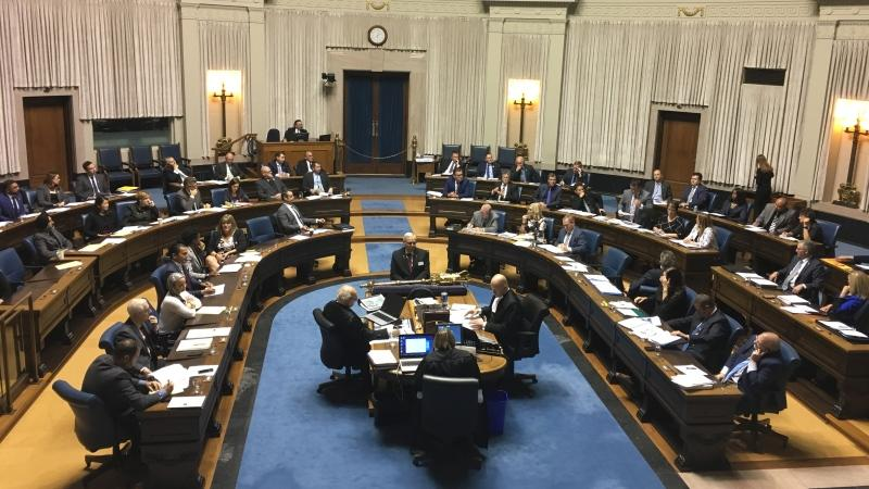 In the Legislature Monday, NDP Leader Wab Kinew asked Premier Brian Pallister why the government was looking to sell the machines. (Photo: Beth Macdonell/CTV News Winnipeg)