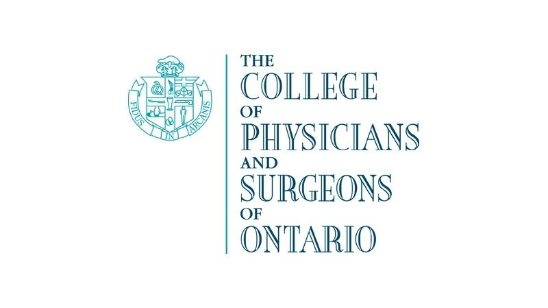 The College of Physicians and Surgeons of Ontario logo is shown in this file photo.(Handout / CTV Windsor)