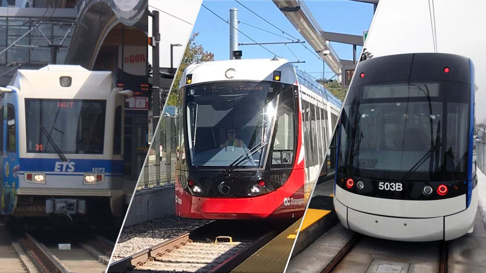 New trains in Edmonton, Ottawa and Waterloo, Ont.