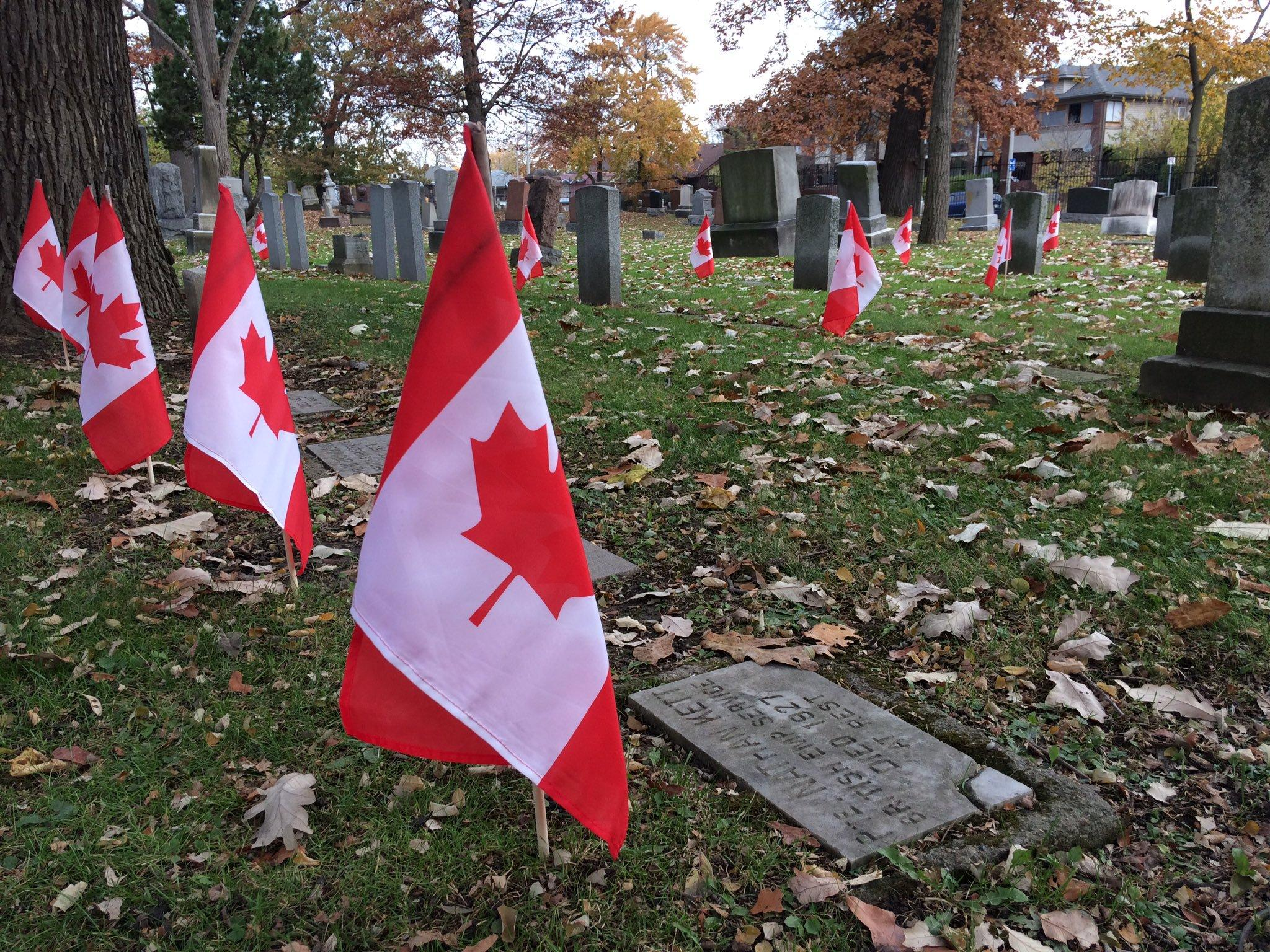 AM800-News-Windsor Grove Cemetery-Veterans-Flags-November 6-2019-1