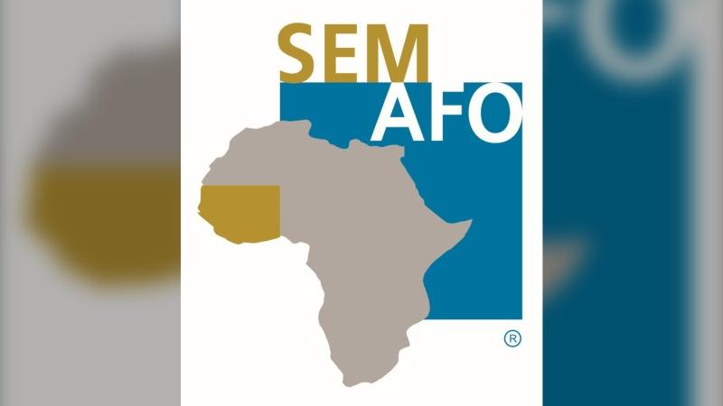 The SEMAFO company logo is seen in this file image.