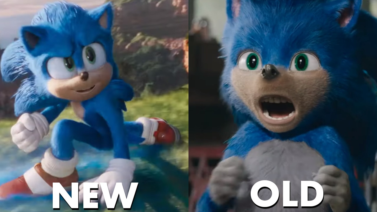 Sonic Movie New VS Old Comparison Sonic the Hedgehog