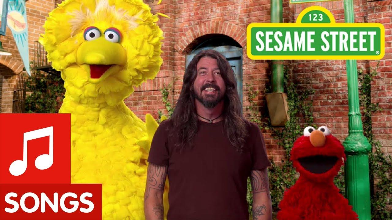 Dave Grohl joins Big Bird and Elmo for 50th season of Sesame Street.