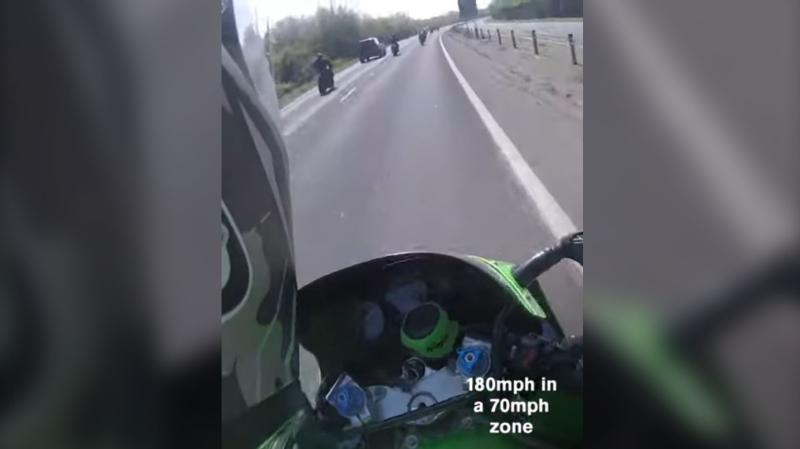 Three motorcyclists received varying jail sentences for dangerous driving and 2-year driving bans, after the trio recorded themselves performing high-speed stunts on one of their head cameras. (Sussex Police)