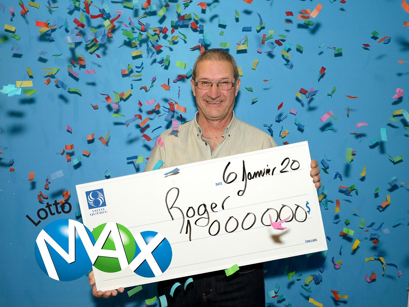 Roger Barriault, un résident du Bas-Saint-Laurent, a mis la main sur un Maxmillion, soit un lot de 1 million de dollars, lors du tirage du Lotto Max du 31 décembre.