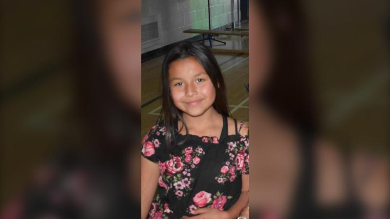 Shauntae Joseph, 10, was last seen on Friday morning wearing a red hoodie and red sweat pants. She was also carrying a black backpack. (RCMP handout)