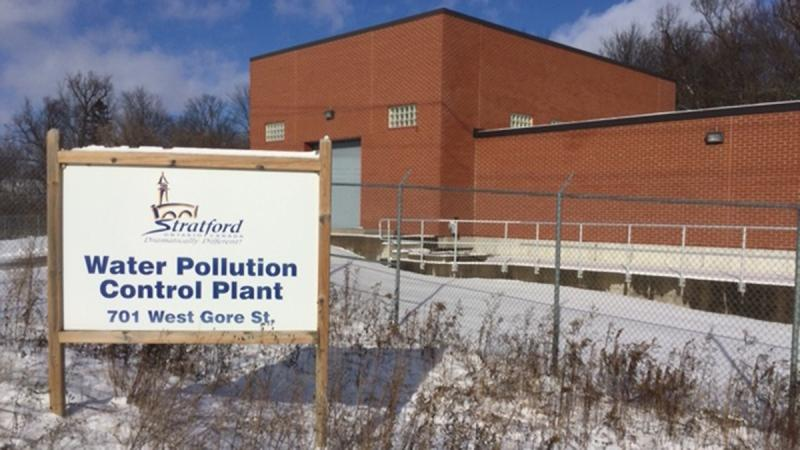 The Water Pollution Control Plant in Stratford, Ont. is seen on Monday, Jan. 6, 2020. (Scott Miller / CTV London)