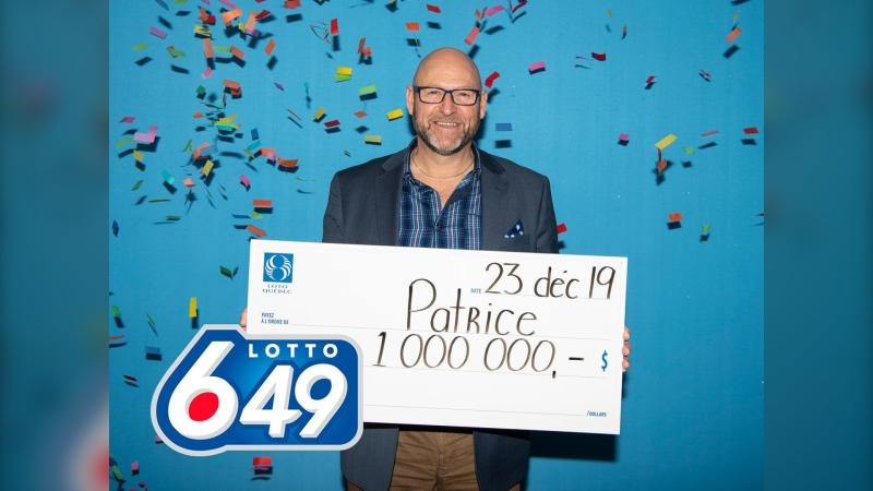 Quebec lottery winner Patrice Perreault. (Photo: Loto-Quebec)