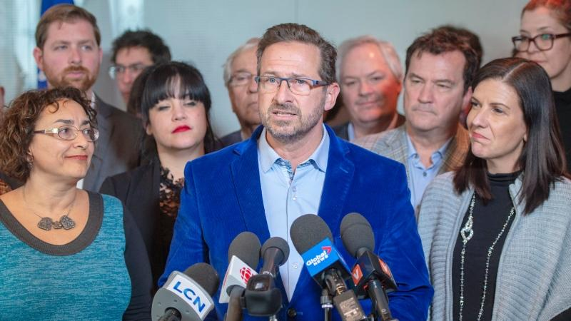 Bloc Quebecois leader Yves-Francois Blanchet speaks to the media Tuesday, January 21, 2020 in Montreal.THE CANADIAN PRESS/Ryan Remiorz