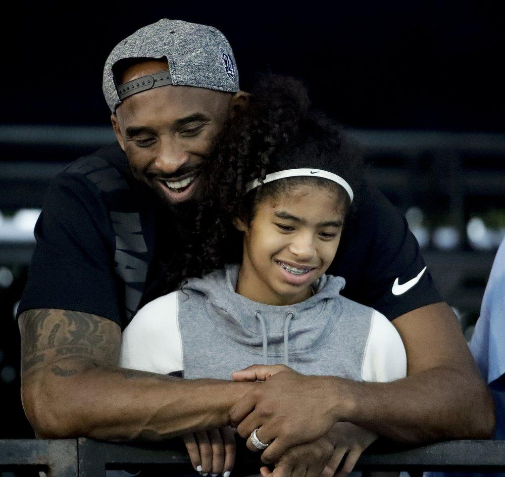 Kobe Bryant and his daughter Gianna, July 2018