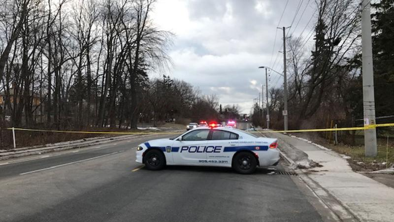 Emergency crews attend the scene of a fatal collision in Mississauga on Jan. 31, 2020. (Ron Dhaliwal/CTV News Toronto)