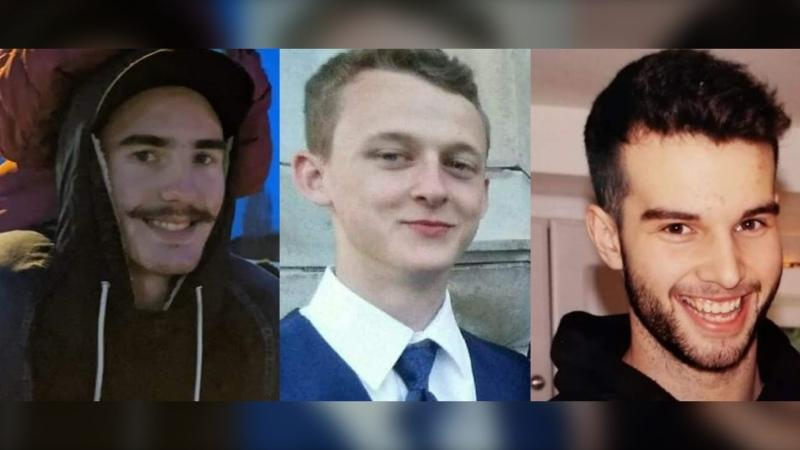 Cory Mills, Eric Blackmore and AJ Jensen, a trio of 20-year-old friends, were last seen at Jensen's parents' house around 10:30 p.m. Friday. (Sooke Watch/Facebook)