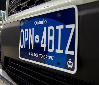 CKTB-News- Ontario license plate