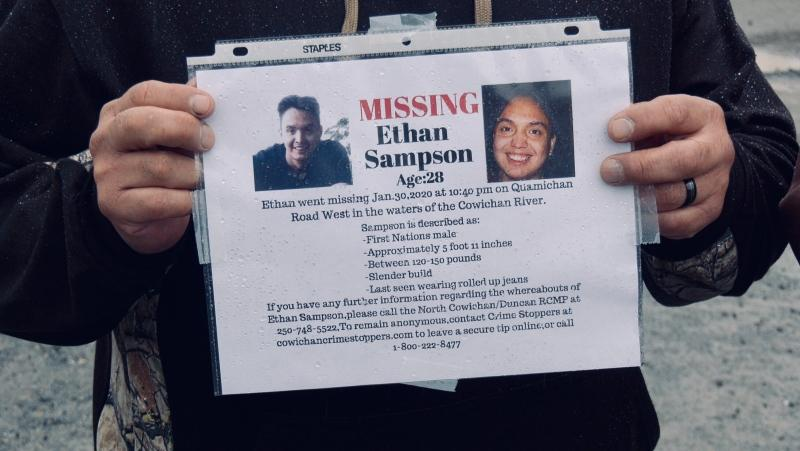 Sampson was last seen Thursday around 10:40 p.m. along Quamichan Road on Cowichan Tribes land. (CTV News)