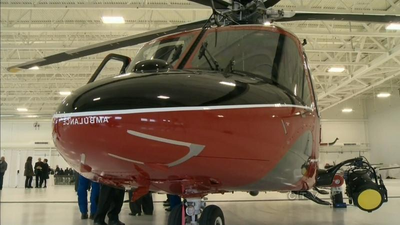 Look inside new air ambulance base at Edmonton International Airport. 2013.