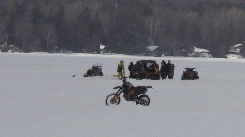 A man was rushed to hospital after a motorcycle crash on Bass Lake in Oro-Medonte, ON on February 16, 2020