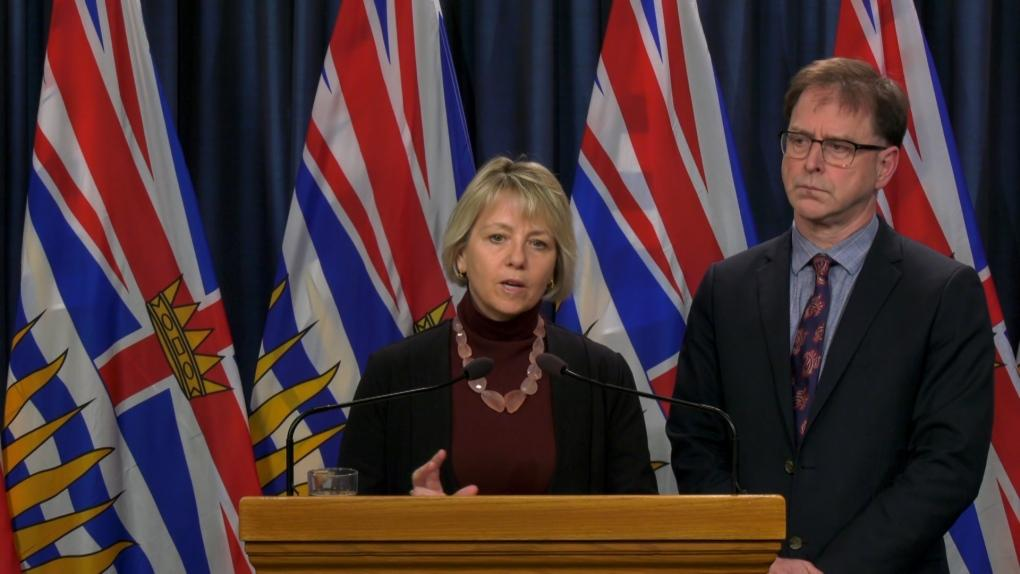 B.C. Health Officer Dr. Bonnie Henry and Minister of Health Adrian Dix, Feb. 20, 2020