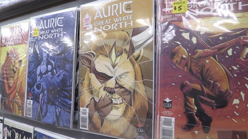 "The ""Auric of the Great White North"" series currently has five issues, along with a spin-off series ""Norlan."" based on on of Auric's team members."