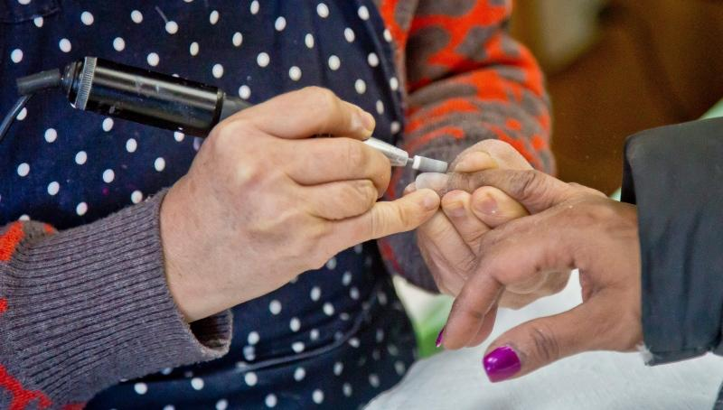 In this file image, a customer receives a manicure at a nail salon, Thursday, Jan. 8, 2015, in New York. (AP Photo / Bebeto Matthews)