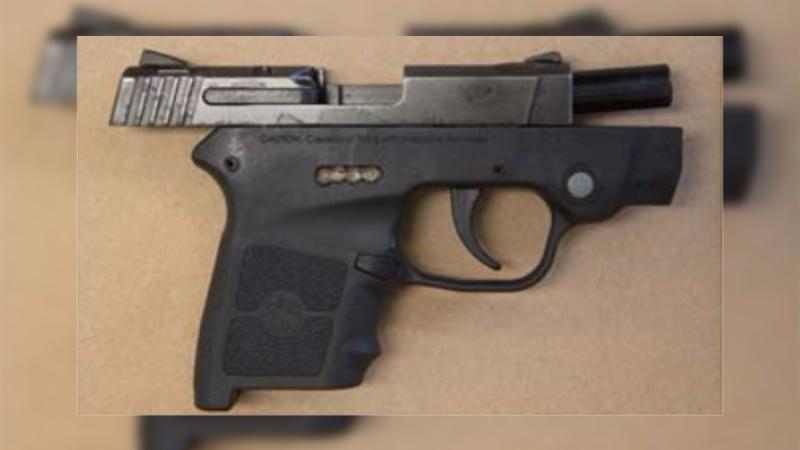 A handgun was seized in London, Ont. on Wednesday, March 4, 2020. (Source: London Police Service)