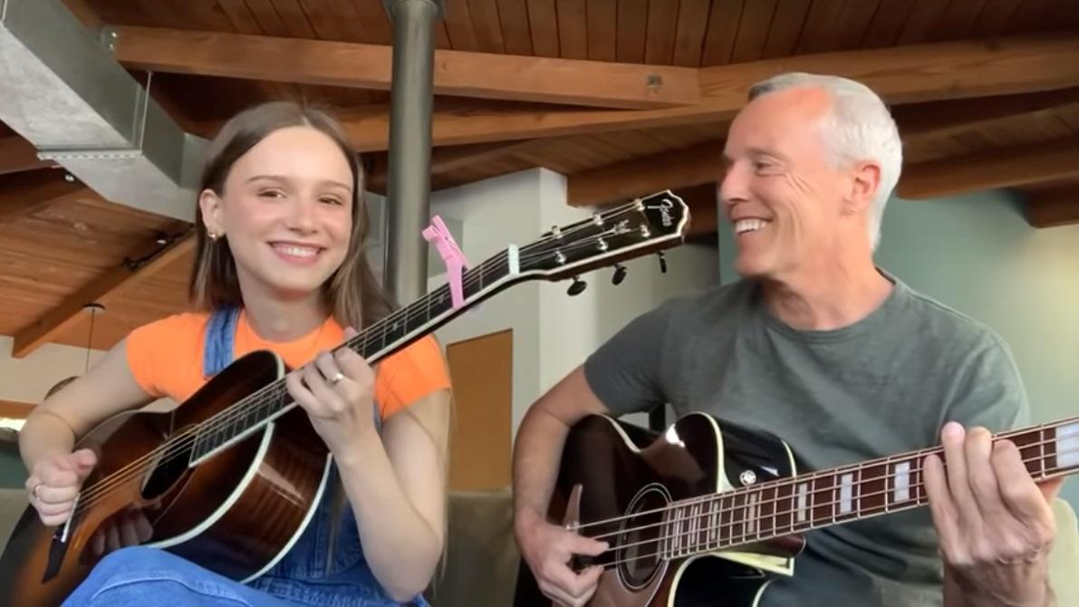 Curt Smith and his daughter Diva play an acoustic version of