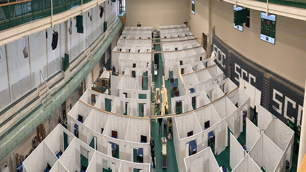 Field Hospital At St Clair College Sportsplex Soon Ready For Patients