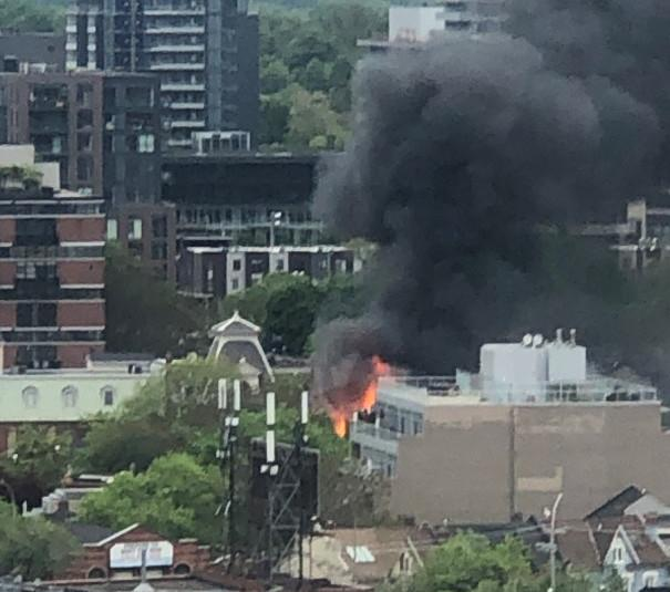 Queen East Fire near Sumach