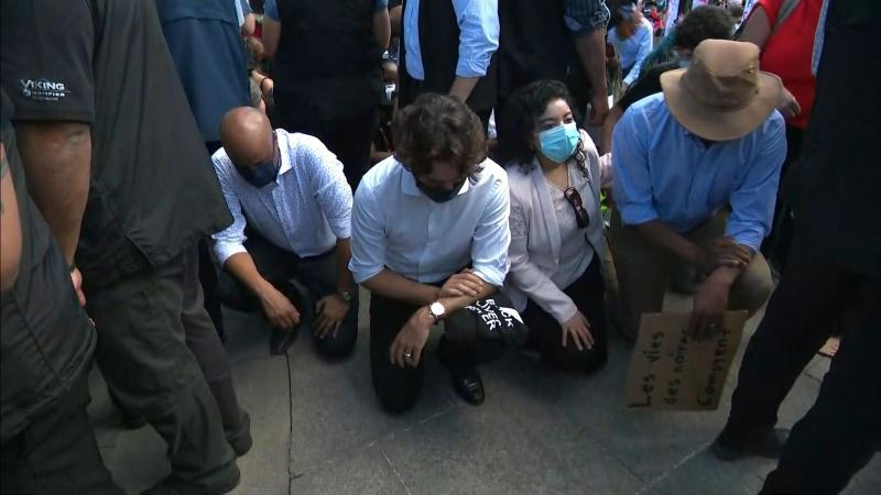 A hollow gesture': Social justice activist calls on Trudeau to do more than  kneel with protesters