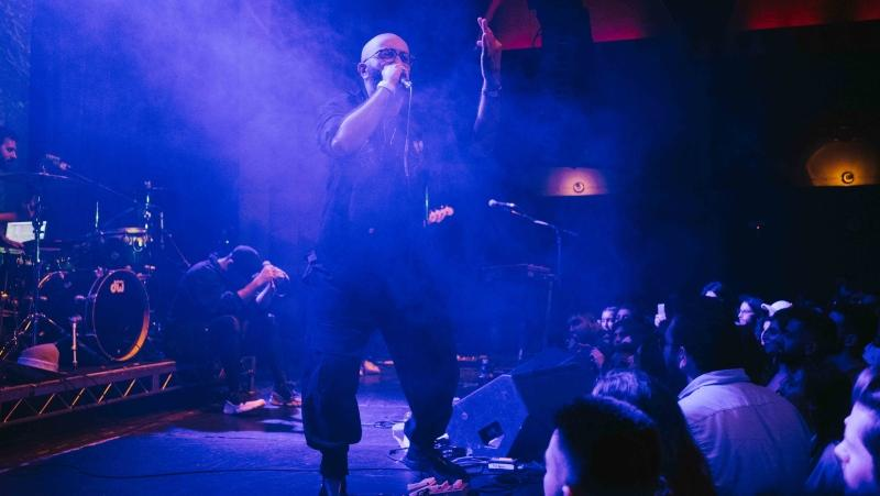 Narcy performs in Los Angeles with Mashrou Leila. (Photo: Laith Majali)
