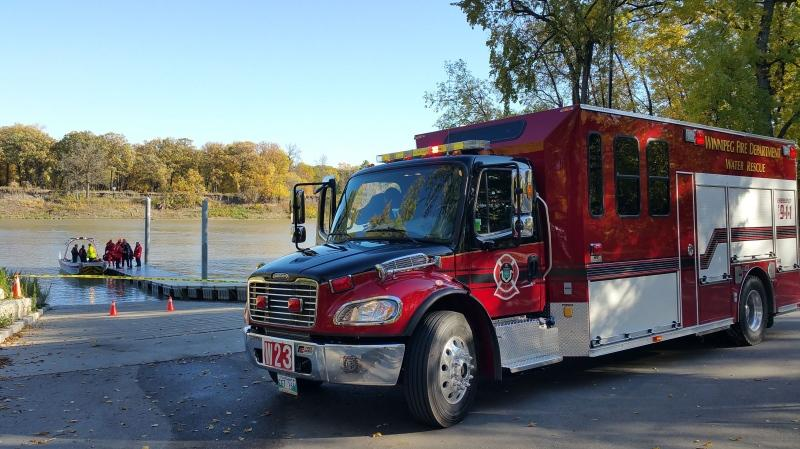 The new units will help maintain the WFPS's capacity for water, ice and swift water rescues. (Dan Timmerman/CTV Winnipeg)
