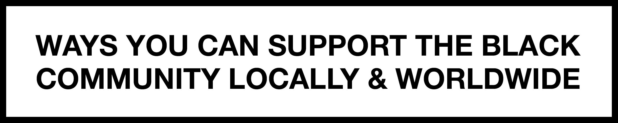 support-the-black-community-banner