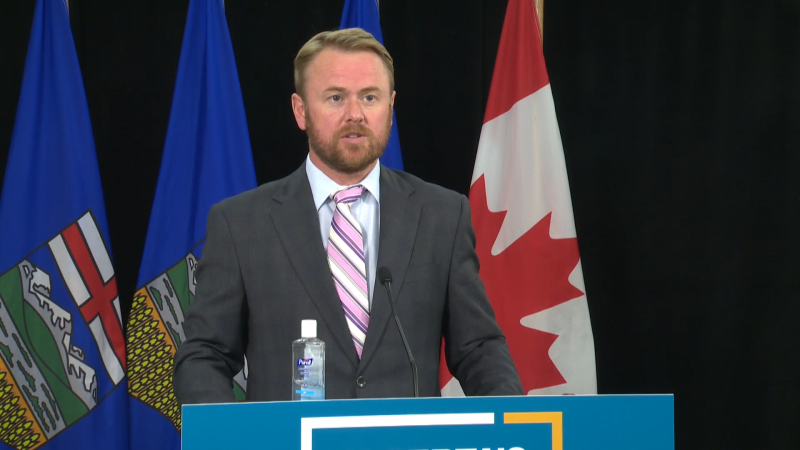 Health Minister Tyler Shandro announced space for 'hundreds' of more continuing care beds had been found in existing care facilities, which operators could apply for funding for through the Affordable Supportive Living Initiative, on Sept. 1, 2020.