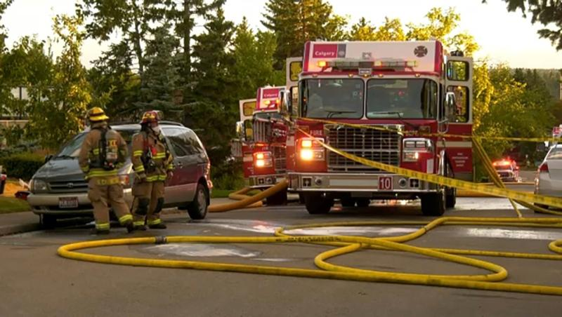 The fire department responded to multiple fires Thursday, including one on St. Andrews Place in northwest Calgary