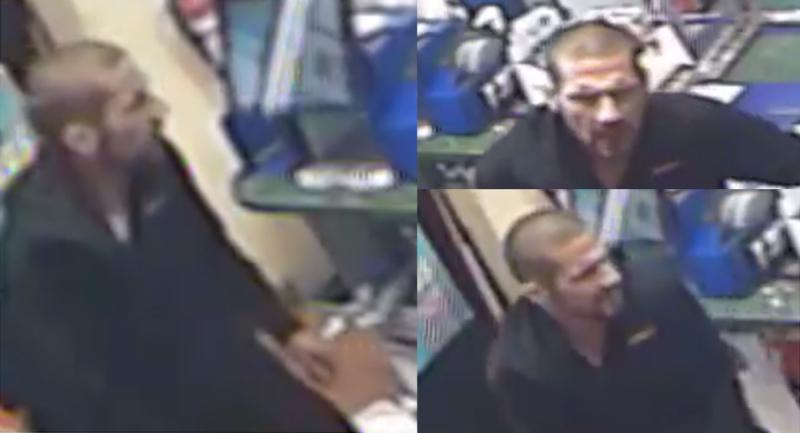 A suspect in a London, Ont. gas bar robbery on Aug. 27, 2020 is seen in these images released by the London Police Service.