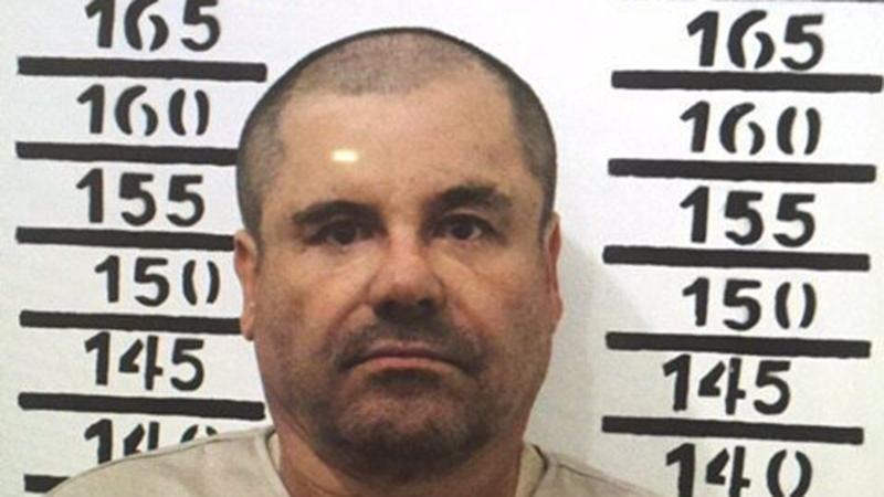 "In this Jan. 8, 2016, file image released by Mexico's federal government, Mexico's most wanted drug lord, Joaquin ""El Chapo"" Guzman, stands for his prison mug shot with the inmate number 3870 at the Altiplano maximum security federal prison in Almoloya, Mexico. (Mexico's federal government via AP)"