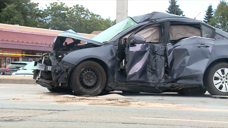 Ottawa police say serious injuries have been reported following a crash in Kanata, Sept. 5, 2020. (Mike Mersereau / CTV News Ottawa)