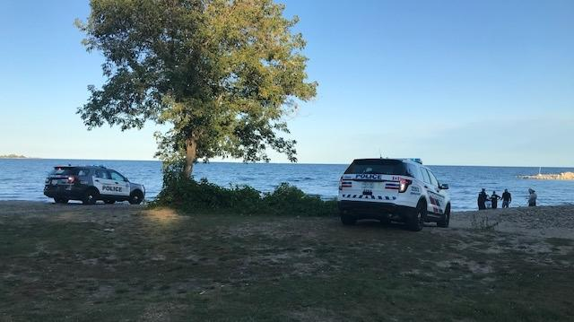 Toronto police are investigating after a body was found in the water near Marie Curtis Park.