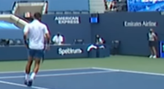 Watch A Tennis Star Is Sorry After Hitting A Line Judge In The Neck In Frustration