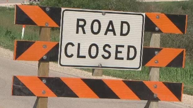 Manitoba road closed. (file image)