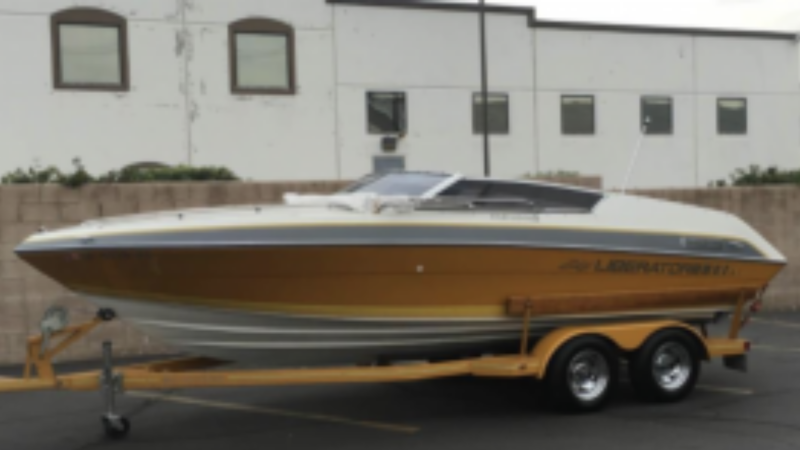 Boat and trailer reported stolen from a business parking lot in the 2400 block of Front Road in LaSalle, Ont. (courtesy LaSalle police)