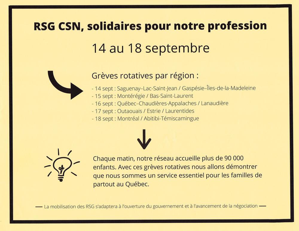 Voici le calendrier des journées de grève rotatives prévues selon l'avancement des négociations.