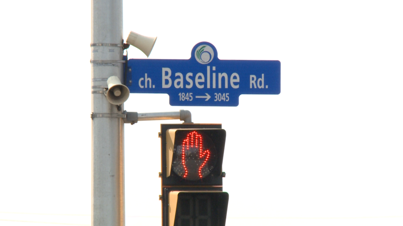 A pedestrian has died of his injuries after he was struck by a vehicle on Baseline.