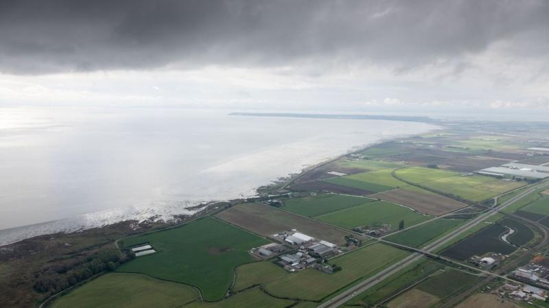 Boundary Bay is seen from CTV's Chopper 9 in this photo taken by Pete Cline.